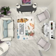 План расстановки мебели в зале